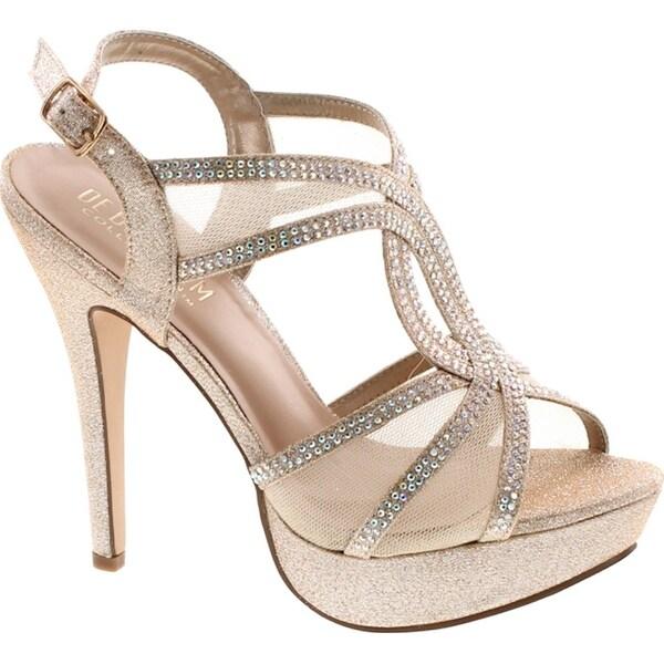 Vice-254 Women's High Heel Rhinestone Strappy Formal Occasion Wedding Prom Dress Sandal Shoes