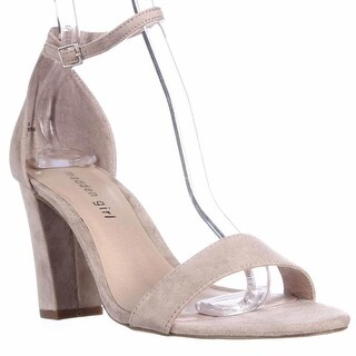 madden girl Beella Ankle Strap Dress Sandals, Blush Velvet