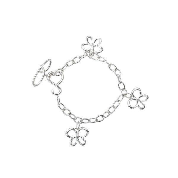 Jessica Simpson Diamond Charm Bracelet in Sterling Silver