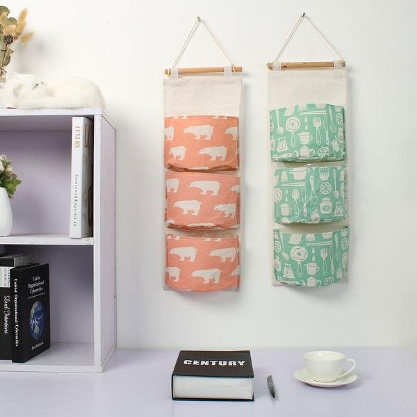 Cotton Linen Door Closet Foldable Hanging Storage Bag Home Organizer Toy Storage