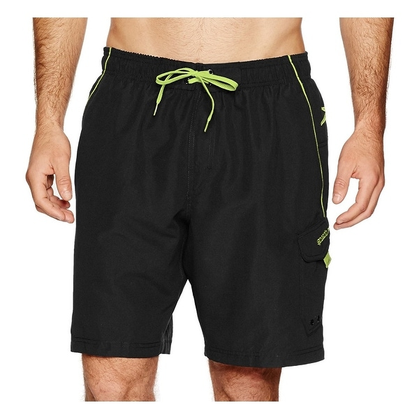 d47bff0e87 ... Men's Clothing; /; Men's Shorts. SPEEDO Black Green Mens Size XL  Vaporplus Lace-Up Board Surf Shorts