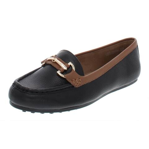 Aerosoles Womens Drive Along Loafers Leather Slip On