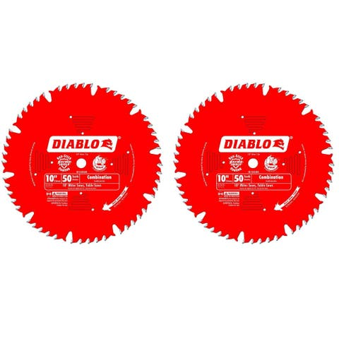 """Freud D1050X Diablo 10"""" x 50 Tooth Combination Saw Blade ( 2 Pack)"""
