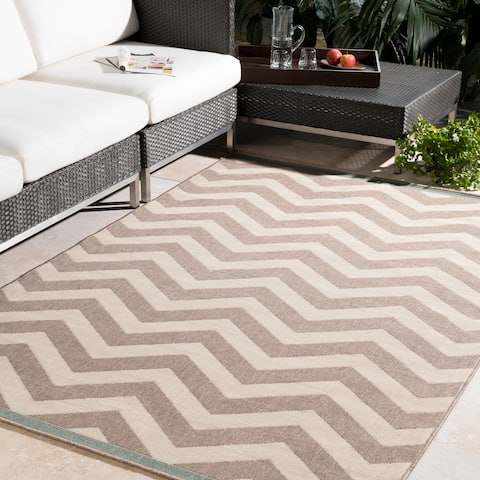 Tuntutuliak Chevron Indoor/ Outdoor Area Rug - 8'9 x 12'9 by Havenside Home