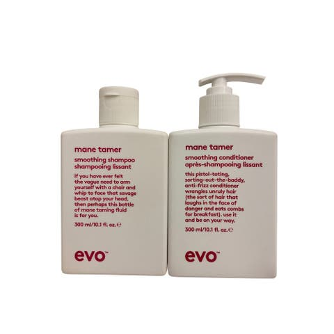 evo Mane Tamer Smoothing Shampoo & Conditioner Set 10.1 OZ Each - 15.1 - 20 Oz.