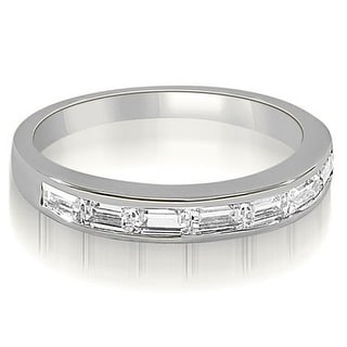 Link to 0.70 cttw. 14K White Gold 7-Stone Channel Set Baguette Diamond Wedding Band Similar Items in Wedding Rings