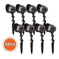 eTopLighting 12 Pack LED Garden Light Pathway Landscape Decorative Spot Lamp w/ Ground Spike