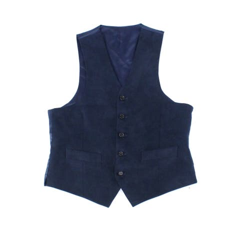 Lauren by Ralph Lauren Mens Jacket Blue Size Small S Vest Pocket