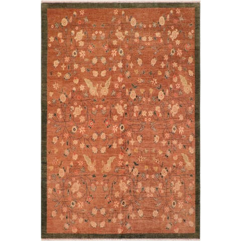 """Bohemien Ziegler Maritza Hand Knotted Area Rug -7'10"""" x 9'6"""" - 7 ft. 10 in. X 9 ft. 6 in."""