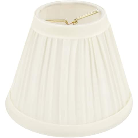"Pleated Cloth Covered Lampshade 2.5""X4""X5""-Ivory - White"
