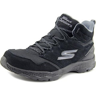 Skechers Go Walk Outdoors Passage Women Round Toe Suede Black Hiking Shoe