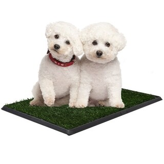 Costway 30''x20'' Puppy Pet Potty Training Pee Indoor Toilet Dog Grass Pad Mat Turf Patch