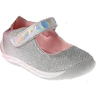 Laura Ashley Girls Toddler Shoes, Silver Shimmer, 6  M Us