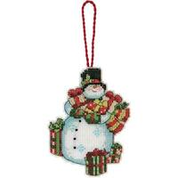"Susan Winget Snowman Ornament Counted Cross Stitch Kit-3.25""X4.5"" 14 Count Plastic Canvas"