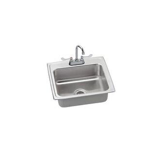 Elkay LR2219C Utility Sink Topmount 18 Gauge Single Bowl (LR2219) and Utility Faucet Gooseneck Spout with Single Hole Concealed