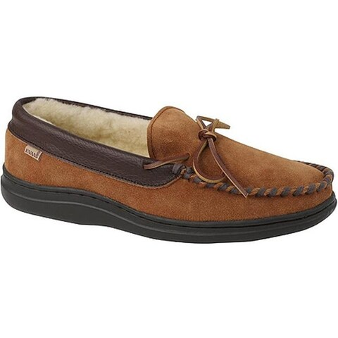 L.B. Evans Men's Atlin Slipper Saddle Suede/Sherpa Lining