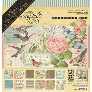 """Graphic 45 Deluxe Collector's Edition Pack 12""""X12""""-Botanical Tea"""