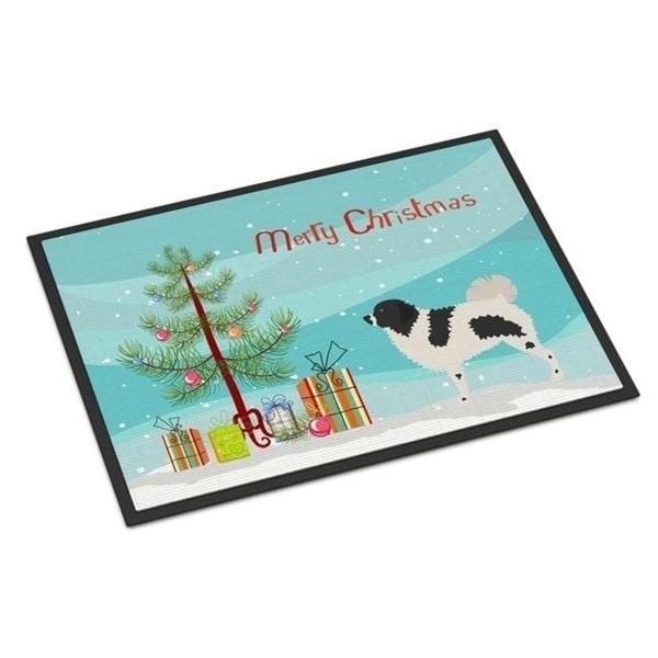 Carolines Treasures BB8444MAT Wetterhoun Frisian Water Dog Christmas Indoor or Outdoor Mat - 18 x 27 in.