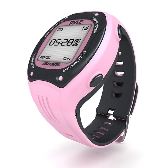 Multi-Function Digital LED Sports Training Watch with GPS Navigation (Pink Color)