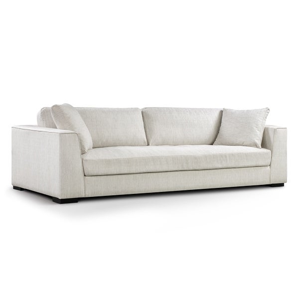 Poly and Bark Upholstered Neutral Fabric Capri Sofa. Opens flyout.