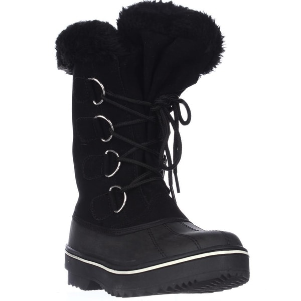 SC35 Mikkey Lace-Up Winter Boots, Black