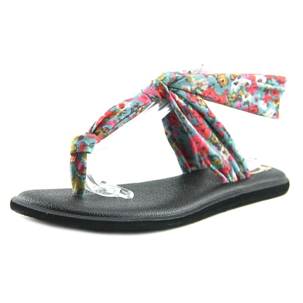 Sanuk Yoga Sling Ella Prints Women Open Toe Synthetic Multi Color Thong Sandal