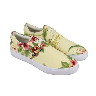 Huf Genuine Womens Yellow Canvas Lace Up Lace Up Sneakers Shoes