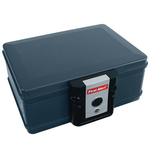 First Alert 2013F Water and Fire Protector File Chest, 0.17 Cubic Feet - Gray