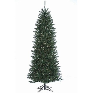 12' Slim Alexandria Pine Pre-Lit Artificial Christmas Tree - Clear Lights