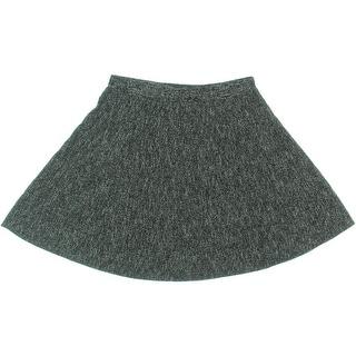 Studio M Womens Marled Pull On Flare Skirt - XS