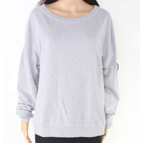 Michael Stars Women's Gray Size XL Scoop Neck Pullover Sweater