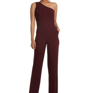 Trina Turk NEW Red Burgundy Women's Size 12 One-Shoulder Jumpsuit