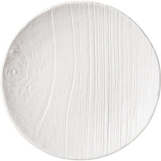 """Club Pack of 12 Dove White Tree Trunk Patterned Disposable Luncheon Plates 6"""""""