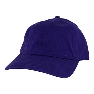 Plain Low Unstructured C1163 Cotton Curve Bill Adjustable Strapback Dad Cap - Purple