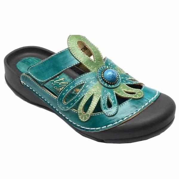 f3066950e893 Shop Corkys Womens Elite Stone Adjustable Slide-On Bump Toe Leather Clog  Sandal Shoe - Free Shipping Today - Overstock - 20522029
