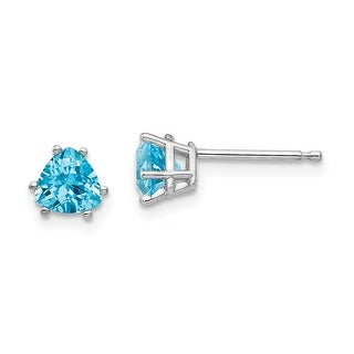 Link to 14K White Gold 5mm Trillion Blue Topaz Earrings by Versil Similar Items in Earrings