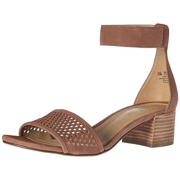 Naturalizer Womens Faith Leather Open Toe Casual Ankle Strap Sandals