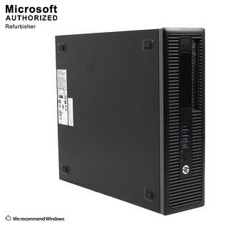 HP EliteDesk 800G1 SFF Intel i5-4590 3.30GHz, 12GB RAM, 3TB HDD, DVD, WIFI, BT 4.0, HDMI Adapter, WIN10P64(EN/ES)-Refurbished