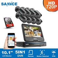 SANNCE 8CH 720P HD Cameras Video Surveillance System with Monitor