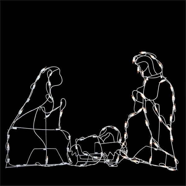 """25.5"""" Holy Family Nativity Scene Lighted Outdoor Christmas Decoration - N/A"""