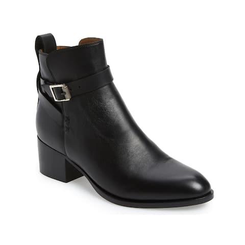 Rag & Bone Women's Leather Walker Buckled Ankle Boots Black