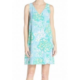 Lilly Pulitzer NEW Lagoon Green Womens Size 4 Calissa Crepe Shift Dress