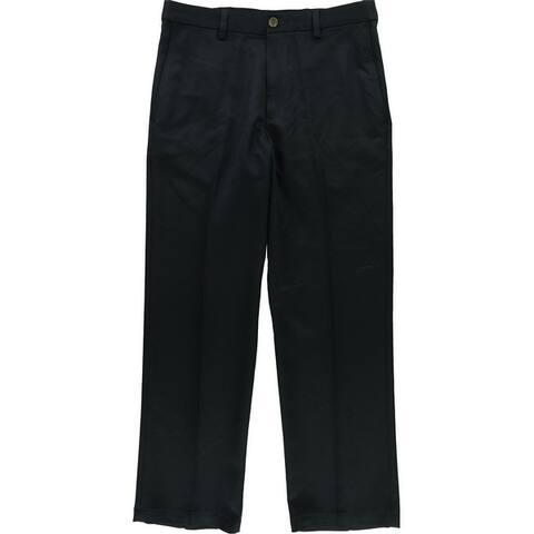 Haggar Mens Microfiber Casual Trouser Pants