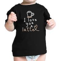 Love A Latte Infant Gift Tee Shirt Black