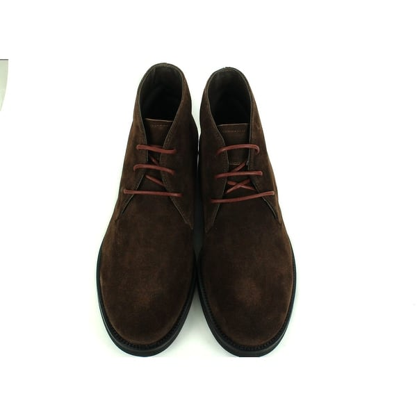 Shop Tod's Mens Burnt Brown Suede Chukka Desert Ankle Boots