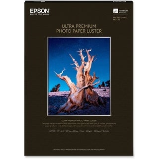 Epson Ultra Premium Photo Paper Luster (11.7x16.5 Inches, 50 Sheets) (S041406)