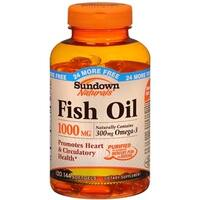 Sundown Naturals Fish Oil 1000 mg Softgels 120 Soft Gels