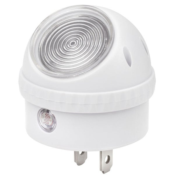 SonicIQ Auto On/Off Night Light - Plug-in LED Bulb with Smart Sensors Rotates 360 Degrees- Set of Two - White
