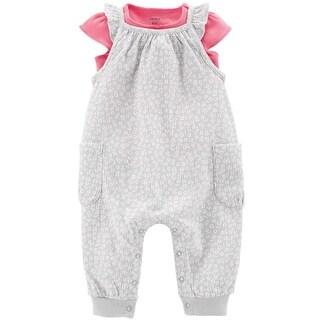 Carter's Baby Girls' 2-Piece Tee & Gauzy Jumpsuit Set