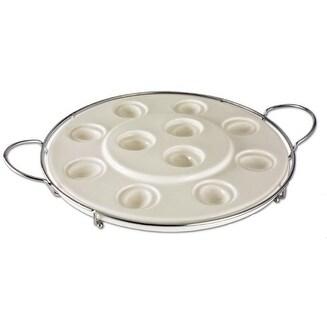 Godinger 2 Tiered Cupcake or Deviled Egg Platter
